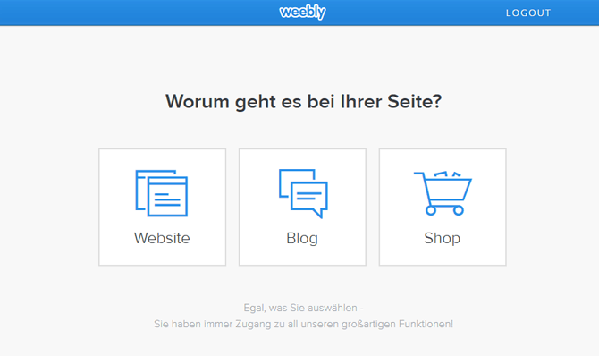 Weebly Start: Website, Blog oder Shop?