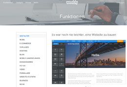weebly Homepage-Baukasten